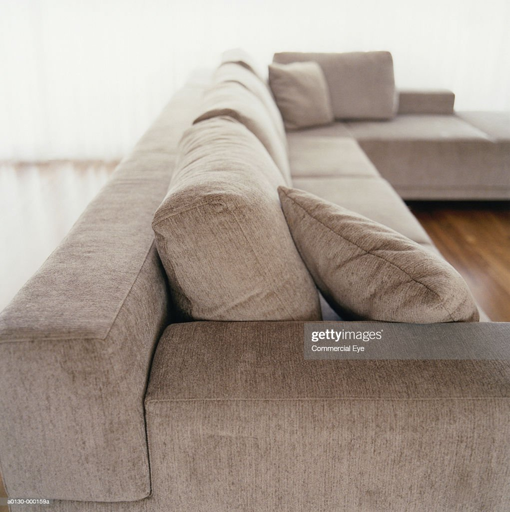 Large Modern Corner Sofa Stock-Foto - Getty Images
