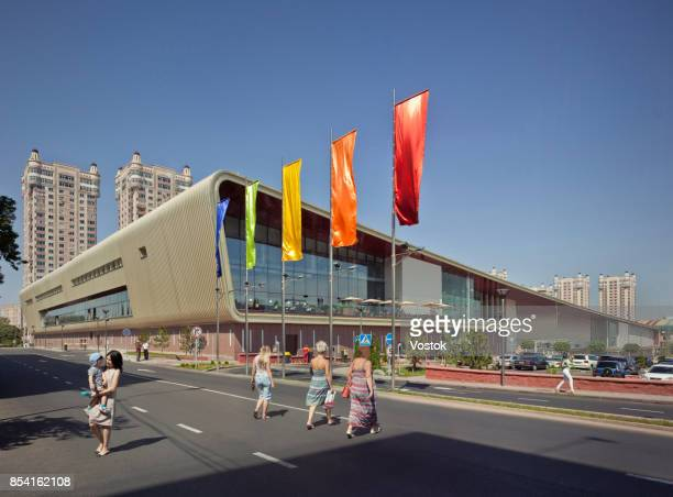 Large modern Shopping mall building in Almaty
