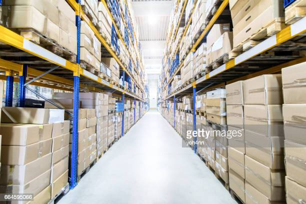 large & modern warehouse - storage compartment stock pictures, royalty-free photos & images