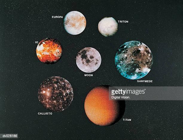 large moons - エウロパ ストックフォトと画像