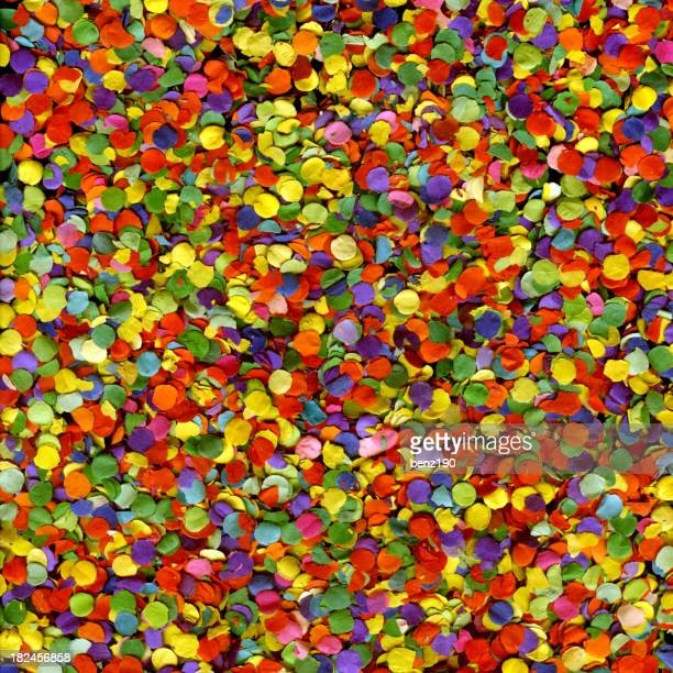 A large multi colored confetti background
