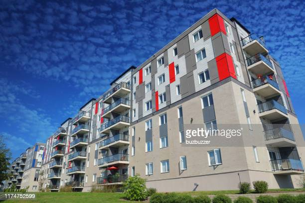 large multi-condos building block - council flat stock pictures, royalty-free photos & images