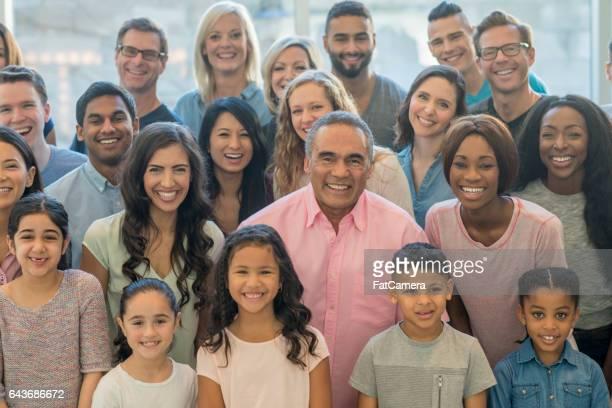 Large Multi-Ethnic Group