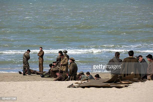 A large number of extras have been drafted in to help replicate the troops evacuated from Dunkirk 76 years ago on the set of Christopher Nolan's...
