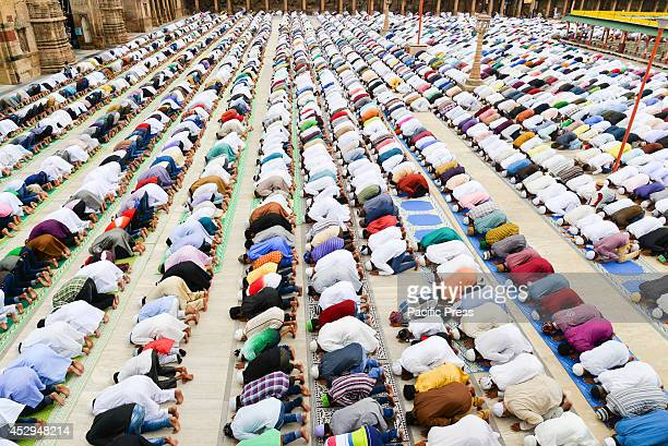 Large number of Muslims celebrate Eid alFitr which marks the end of the month of Ramadan Eid alFitr is the end of Ramazan and the first day of the...