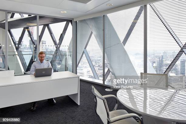 Large office with city views and director Office Space at The Gherkin London United Kingdom Architect IOR GROUP Interiors Foster Partners 2016