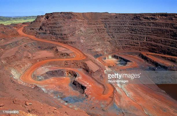 Large open cut iron ore mine
