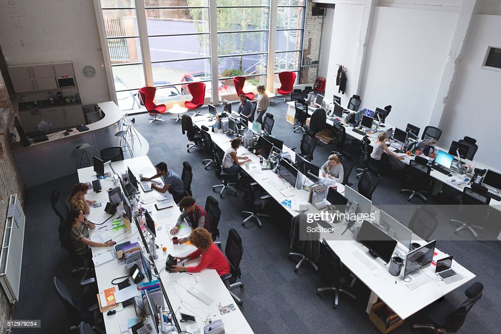 Large Open Space Office : Stock Photo