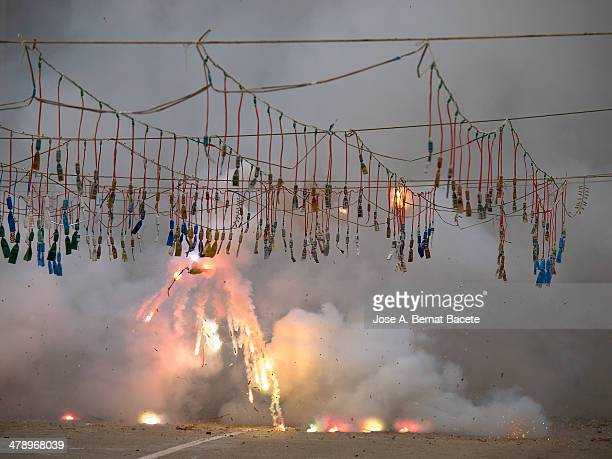 Large or colorful fireworks mascletá