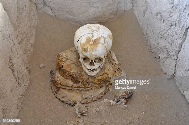 Large Oversized Head Mummy at Chauchilla Cemetery