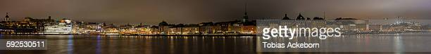 Large panorama of old town Stockholm