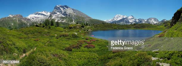 Large Panoramic of Hopschusee, Simplon Pass