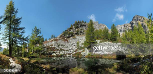 Large Panoramic View of Lago di Agro in The High Bognanco Valley