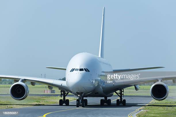 Large Passenger Jet Taxiing to Runway
