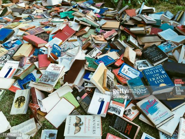 large pile of abandoned books - free of charge stock pictures, royalty-free photos & images