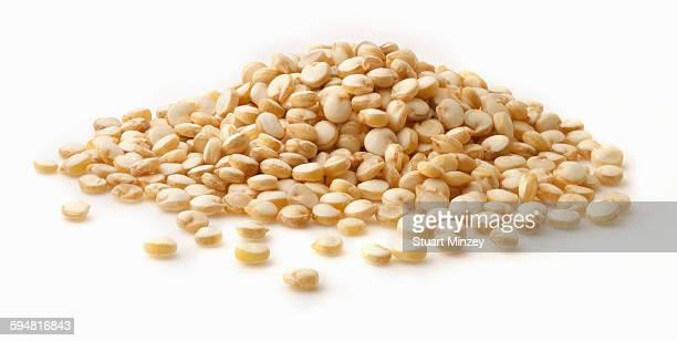 Large pile of quinoa on white background