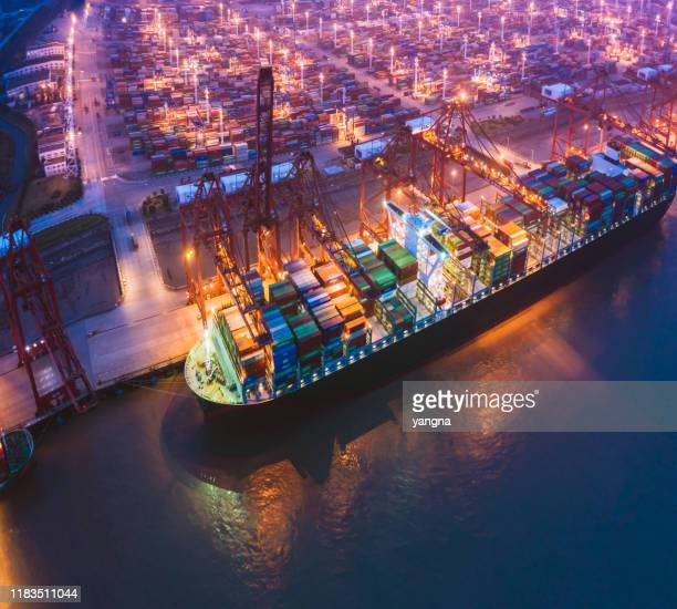 large port ship in asia - harbour stock pictures, royalty-free photos & images