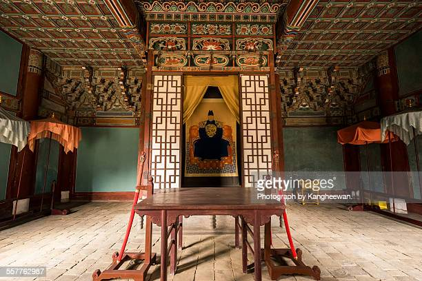 large portrait of the king taejo lee sung-gye - jeonju stock photos and pictures