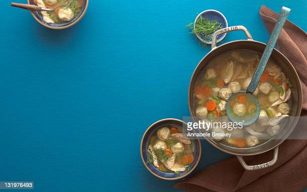 Large Pot of Matzo Ball Soup