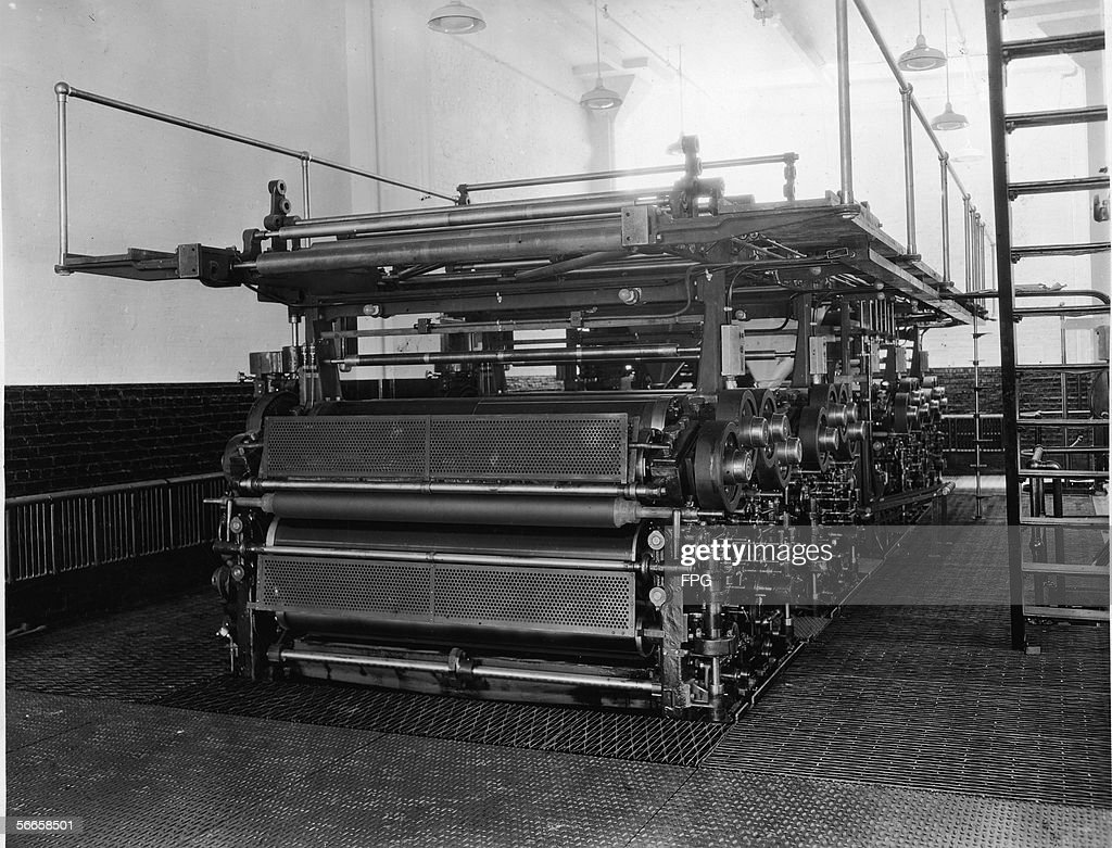 A Large Printing Press Of The Kind Used To Publish Newspapers Mid 20th Century