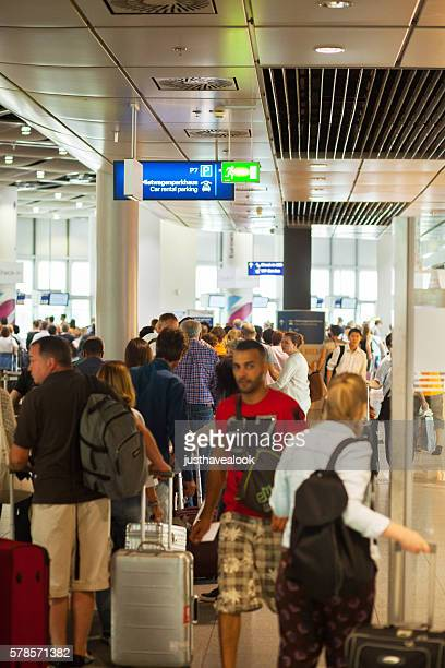 Large queue at check-in