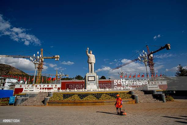 A large real estate project is under construction behind the Dongfanghong square where a statue of Mao Zedong was erected in 1968 and has been well...