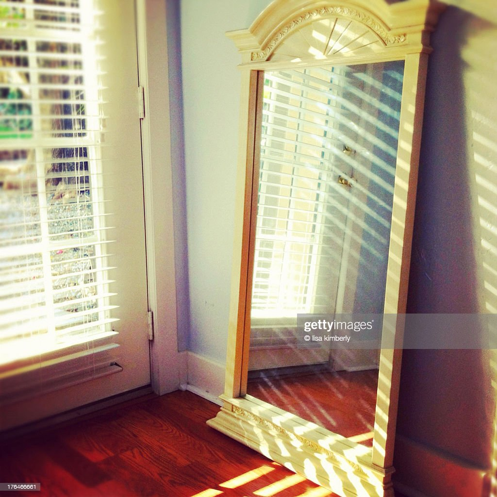 Large Rectangular Mirror Leaning Against Wall Stock Photo Getty Images