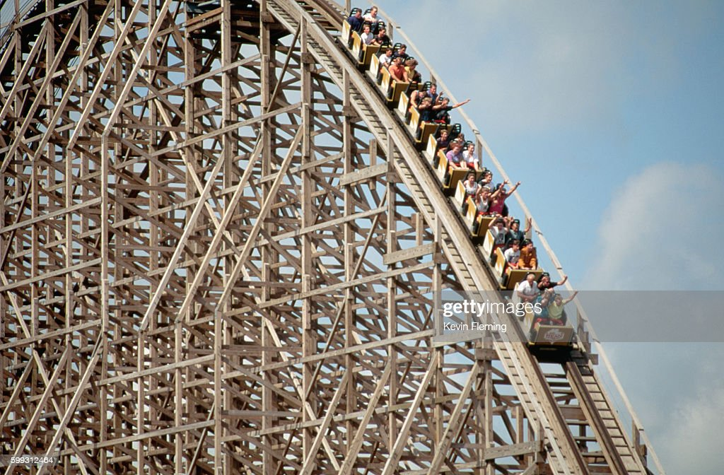 Large Roller Coaster at Cedar Point : Stock Photo