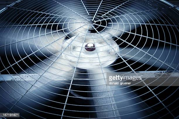 large rotating fan of a commercial or industrial hvac system - ventilator stock pictures, royalty-free photos & images