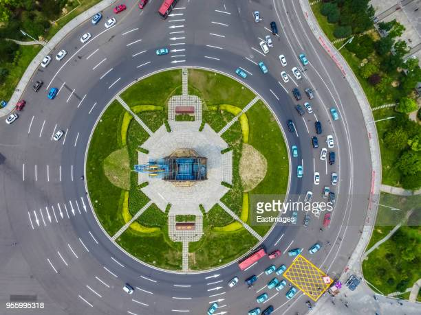 large roundabout from above,tianjin,china. - turn me on stock pictures, royalty-free photos & images