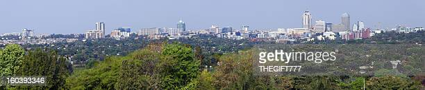 large sandton cityscape panorama - sandton stock pictures, royalty-free photos & images