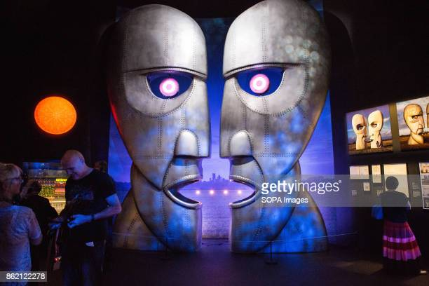 A large sculpture of the album cover The Division Bell released in 1994 is seen during the Pink Floyd exhibition The Pink Floyd exhibition was held...