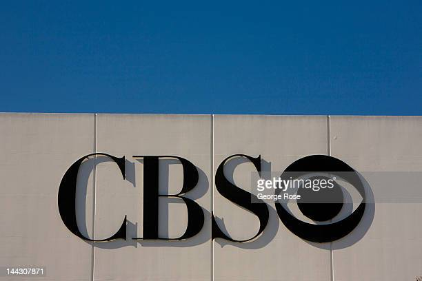 A large sign and logo greets visitors to CBS's Television Studios on April 26 2012 in Los Angeles California Millions of tourists flock to the Los...
