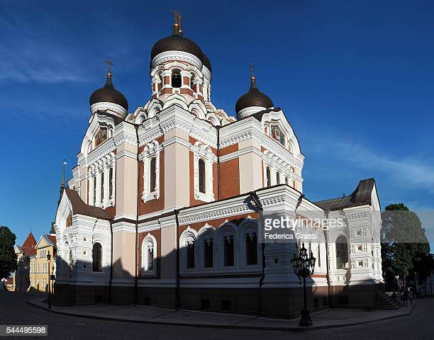 Large Size Lateral View Of Alexander Nevski Cathedral, Tallinn, Estonia, North Europe