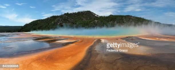 Large Size Panoramic of Grand Prismatic Spring, Yellowstone National Park