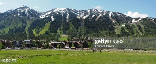 Large Size Panoramic View of Jackson Hole Ski Resort