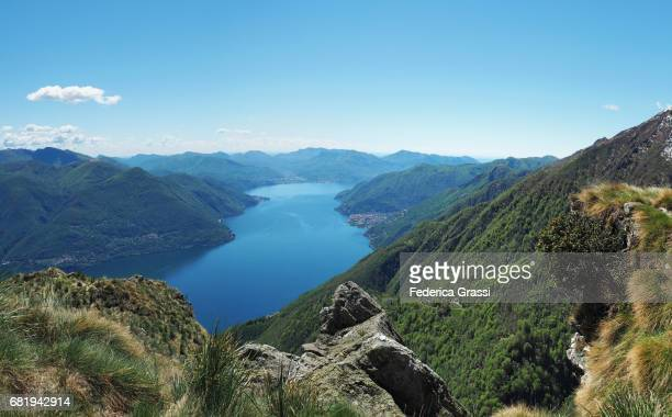 Large Size Panoramic View Of Lake Maggiore And Mount Gridone or Limidario