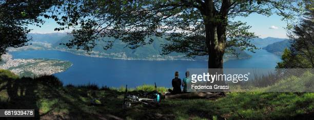 Large Size Panoramic View Of Lake Maggiore