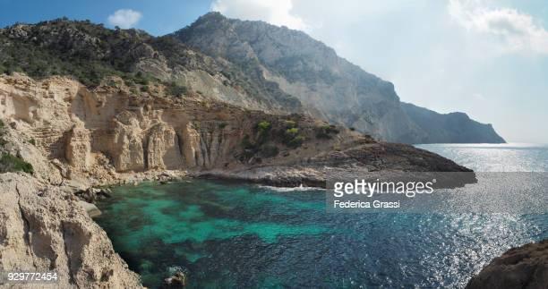 Large Size Stitched View Of Small Cove at Sa Pedrera, Ibiza