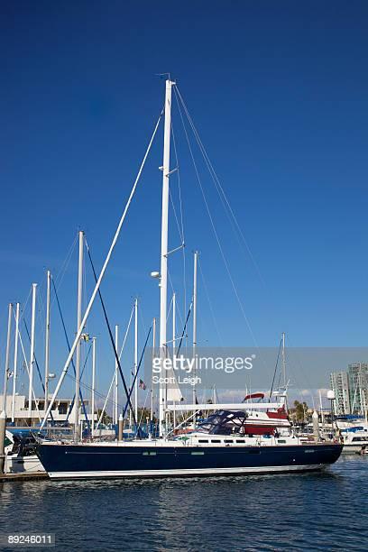 Large sloop in Marina Del Rey, California