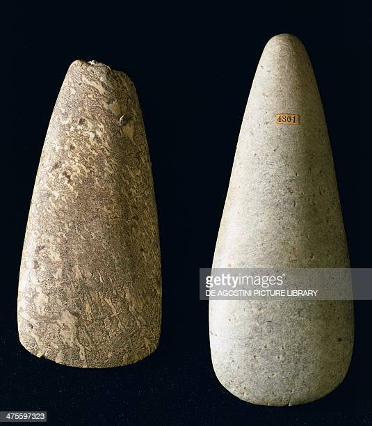 Large smooth axes from Umbria Neolithic Perugia Museo Archeologico Nazionale Dell'Umbria