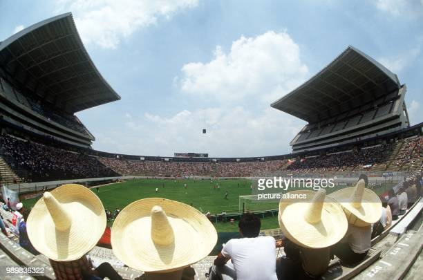 Large Sombreros can be seen on 10 June 1986 at the Cuauhtemoc Stadium in Puebla Mexico during the World Cup group game between Italy and South Korea...