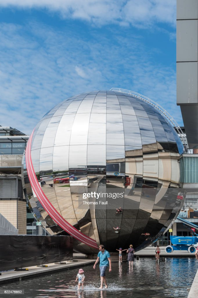 Large sphere in Bristol City : Stock Photo