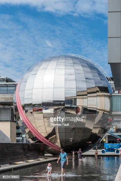 large sphere in bristol city - bristol stock photos and pictures