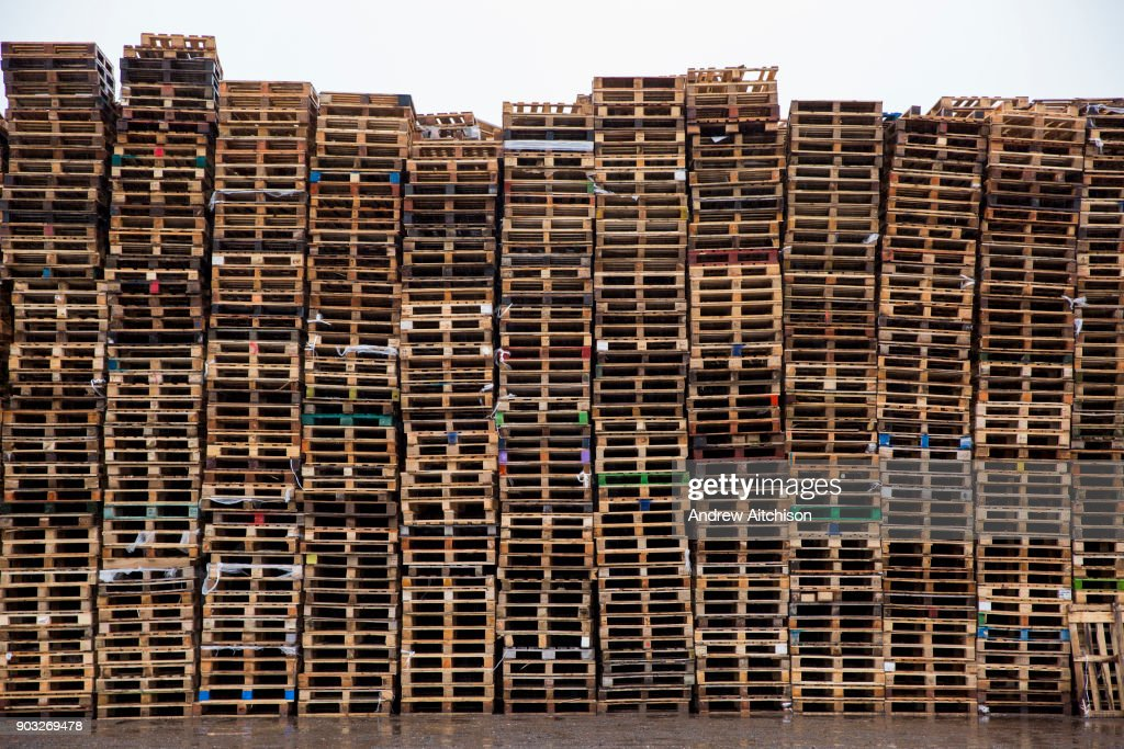 Industrial Pallet Stack : News Photo