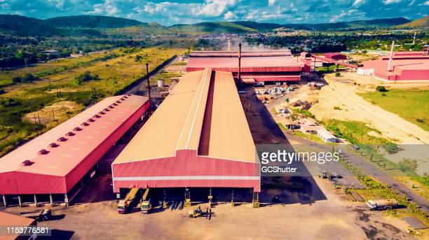 a large steel factory in africa - industrial district stock pictures, royalty-free photos & images