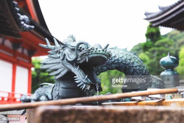 Large stone dragon at the Kiyomizudera Temple