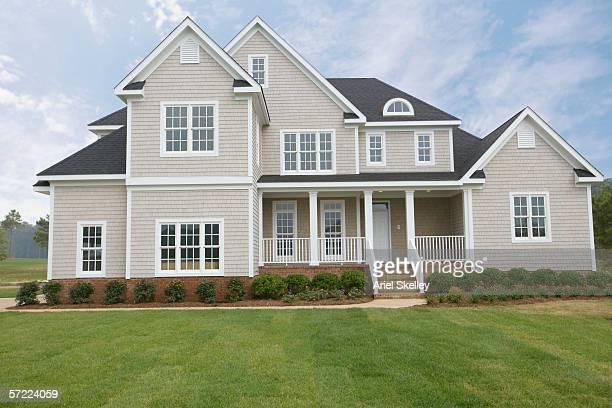 a large suburban house - buildings stock pictures, royalty-free photos & images