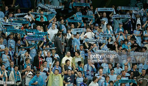 Large Sydney FC crowd travelled north for the round 15 A-League match between the Central Coast Mariners and Sydney FC held at Bluetongue Stadium...