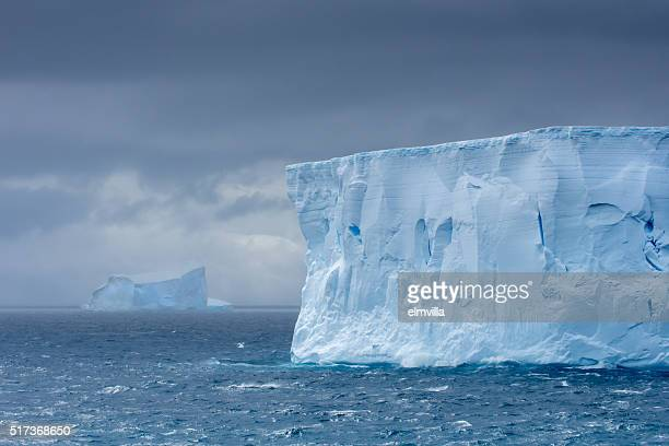 Large tabular iceberg floating in Antarctica
